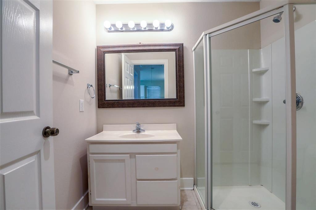 Full bath # 1 in the guest quarters.