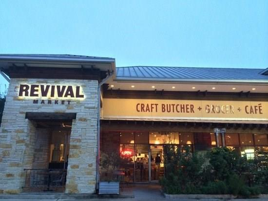 Enjoy some the best coffee and food in the Heights at Revival Market.