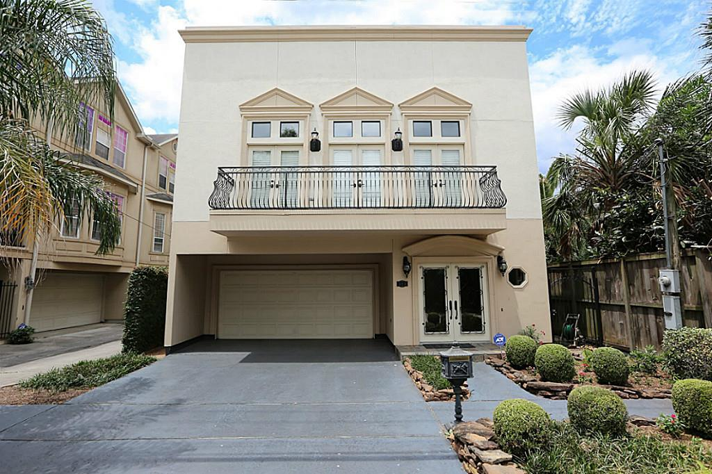 Beautiful, freestanding two-story home in established Rice Military, very close to Memorial Park and an easy commute to Downtown, the Galleria, and the Med Center. Home boasts two master-sized bedrooms, one on each floor! Elegant features include a marble-tiled foyer, 42'' cabinetry in the spacious, light-filled island kitchen, two balconies, attractive landscaping and a private back patio for entertaining.