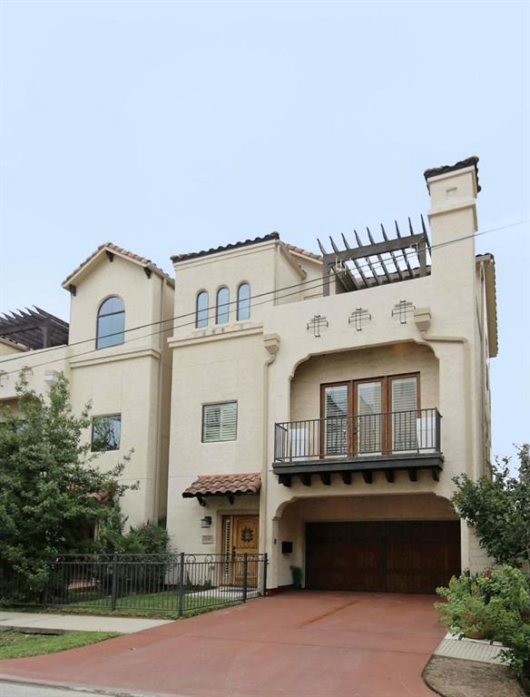 Beautiful Mediterranean home, fully furnished + utilities, cable TV, internet, maid service,yard maintenance included.Too many options to list. Surround sound, stone & wood floors. State of the art appliances. Open floorplan, game room with fuse ball table. Bocce Ball Court in back yard. Outdoor Kitchen. Outdoor Patio. Large Balcony with seating off master bedroom. Wine bar. Breakfast Bar with refrigerator in master bedroom. 2 person jetted tub. 2 55 inch smart TV's. Refinished garage floor. Storage. 5 minute walk to memorial park.