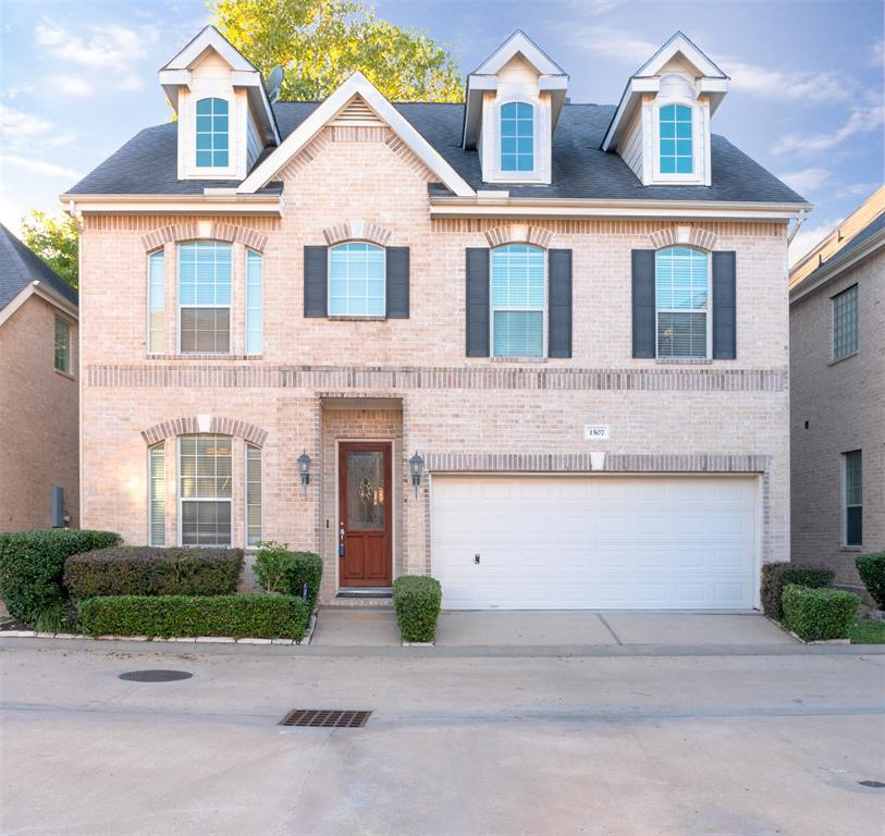 "Home is in exceptional condition,gated community, convenient to downtown, galleria, citycentre. Beautiful brick home with first floor living with hardwoods throughout, gorgeous granite countertops, gourmet island kitchen w/stainless appliances, washer, dryer & frig stay. Large master and large walk in closet, 3rd floor is bonus/game room or bedroom with full bathroom. Home is ready for immediate move in, neighborhood has great amenities with easy access to all highways.""Schedule Your Showing"""