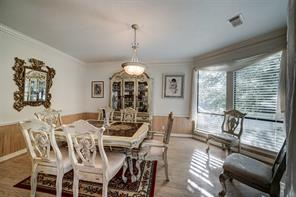 Formal dining area has plenty of room for a large table and hutch.