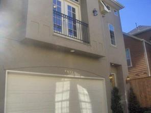BEAUTIFUL  3-STORY FREESTANDING INTOWN HOME, IN GATED COMMUNITY. ELEGANT TRAVERTINE TILE ENTRANCE, HARDWOOD THRU 1ST FLOOR, CROWN MOLDING HI-CEILINGS ,FANS AND MORE. KITCHEN FEATURES GRANITE COUNTER, S/S APPLIANCES, 42'' WOOD CABINETS.  MASTER BATH FEATURES DBL SINKS, SEPARATE  TUB  & SHOWER GRANITE COUNTERS, LR CLOSETS. 4TH  BEDROOM/ MEDIA  FEATURES HIGH CEILINGS AND FULL TUB AND SHOWER BATH, LG CLOSET.  RECENTLY REPLACE A/C SYSTEM, COOL GATED  PATIO STYLE BACKYARD.