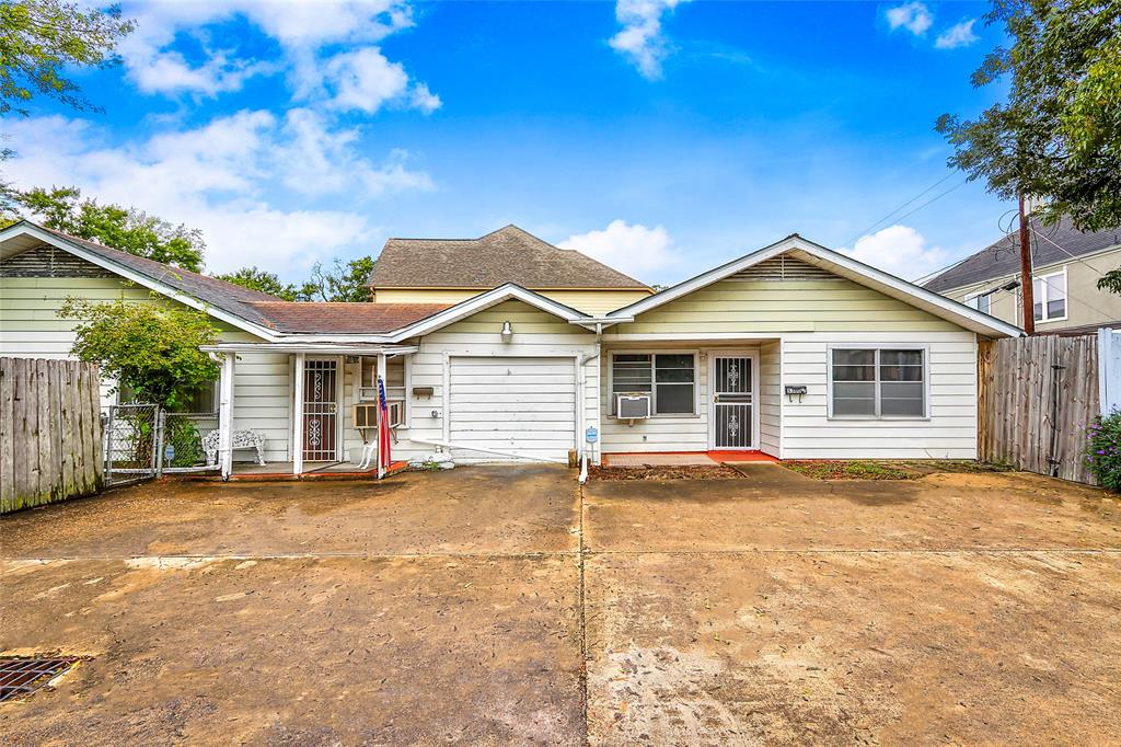 CORNER LOT, ZONED DUPLEX!! Lot value! Two units! Each has two bedrooms and one bathroom. Great location on the edge of Bellaire. 7500 Sq. Ft. lot, 126'x60',  with access on the side street for parking/access to the second unit. Close to The Galleria, West U, Upper Kirby, and the Medical Center. Awesome shopping and dining just blocks away!