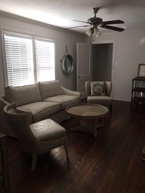 "Come and see this quiet overly sized 2 bedroom upstairs rental in the heart of the Heights and close to Studewood! ALL BILLS PAID AND FURNISHED! Filled with hard wood floors and tile, this unit is the perfect blend between vintage and contemporary living. Be sure to catch the uniqueness of this properties special master walk in closet. The 82 sq ft laundry room has concrete floors perfect for a ""stomp room"" or storage space. 