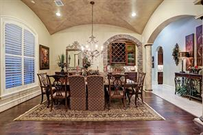 Effortless entertaining is a benefit of the open floor plan that is embraced by the gorgeous dining room.