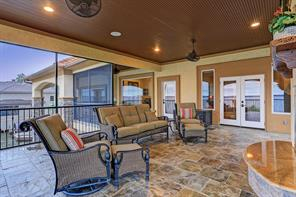 This huge screened in patio is perfect for gathering of friends and enjoyment of a relaxed lifestyle.