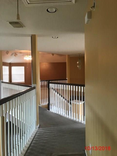 Corner lot. Great floorplan with 2 bedrooms down. Double F/P den backs/master bedroom. Huge kitchen. Upstairs 3 bedrooms and 2 bathroom. property NEEDS SOME COSMETIC UPDATING