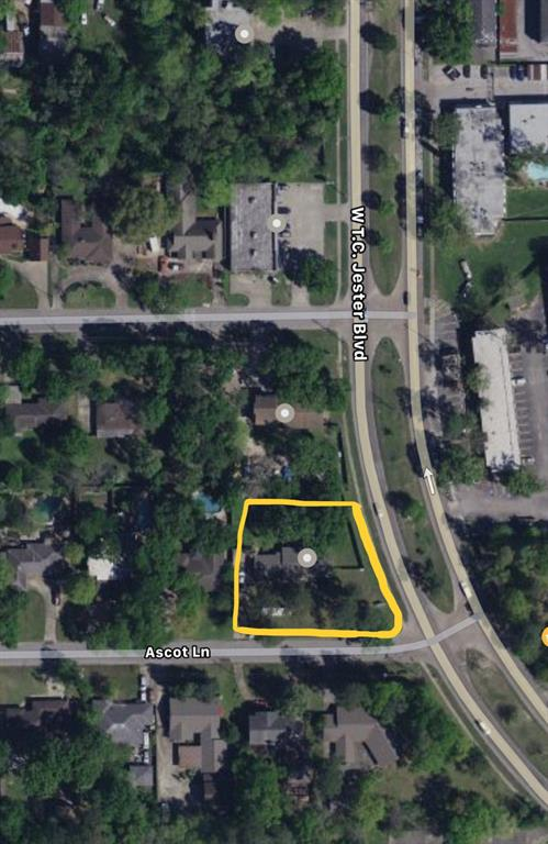 HOME BUILDERS, INVESTORS and BUSINESS OWNERS!!!! Here it is! That perfect location with unrestricted land you've been looking for to either run your business out of your home, build an office building or retail/restaurant space...even build a few beautiful homes to place on the market at retail! Right on the corner of W. T.C. Jester Rd and Ascot Ln., there are a great amount of OPPORTUNITIES with this perfectly located land. So close to the 610 Loop you could see a business sign from the freeway! Property DID NOT FLOOD! *per seller. Own and build in a neighborhood associated with Oak Forest, Shady Acres, Timber Grove and The Heights! Structure on property is in good condition and can continue to be used as both home and business. DON'T MISS OUT!!!