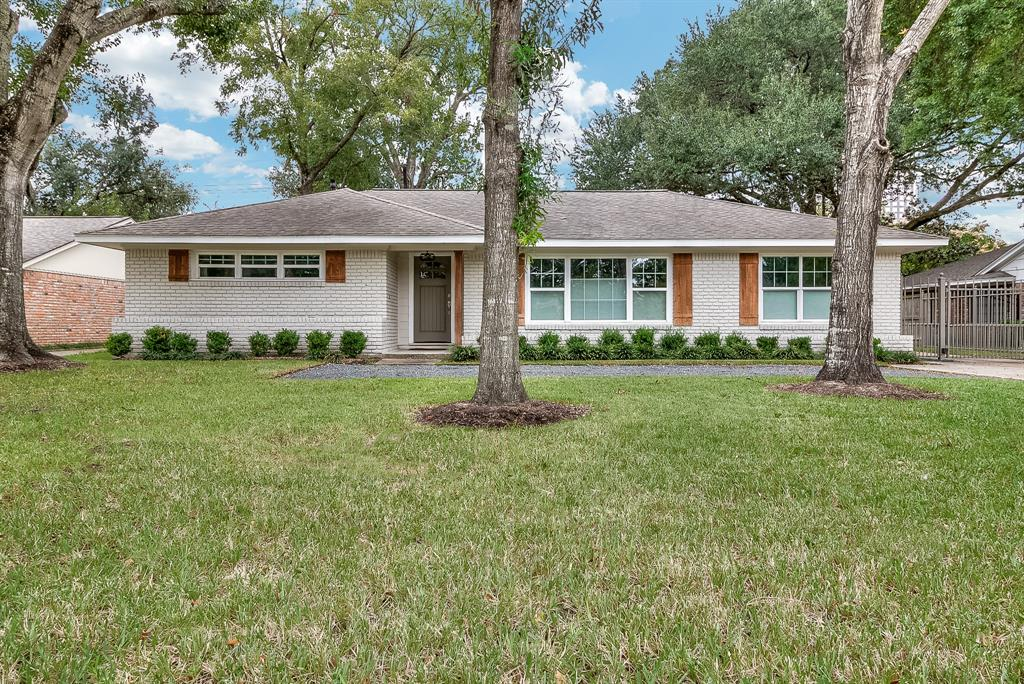 Beautifully remodeled ranch style home in the coveted BRIARCROFT neighborhood. Structure DID NOT FLOOD during Harvey per sellers. The home was COMPLETELY gutted down to the studs in 2016! A custom kitchen with corner bench seating and shiplap design opens to a large living area with double french doors filling the room with light. The home boasts new plumbing, electrical, a/c, water heater and the list goes on! Don't miss the barn door in the dining area that could also be used as a study!