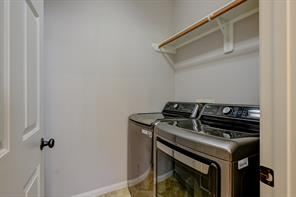 Laundry room is located on the first floor. Washer and dryer is included.