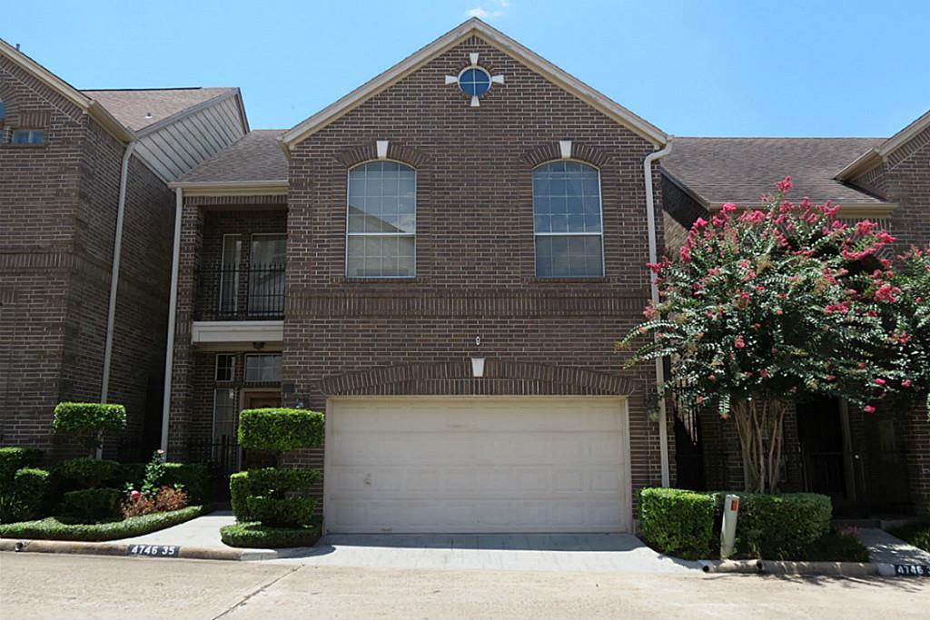 Beautiful home in a prestigious neighborhood in the much sought after Galleria area. You will enjoy the peacefulness of this gated community, featuring two stories with a living and dining room, breakfast area, 3 bedrooms 2 and 1/2 baths. Large master bedroom and with two closets, hardwoods floors throughout home. A must see if you are considering living in the Galleria area.  This attractive home is within walking distance of the uptown shopping centers, groceries, and great restaurants.