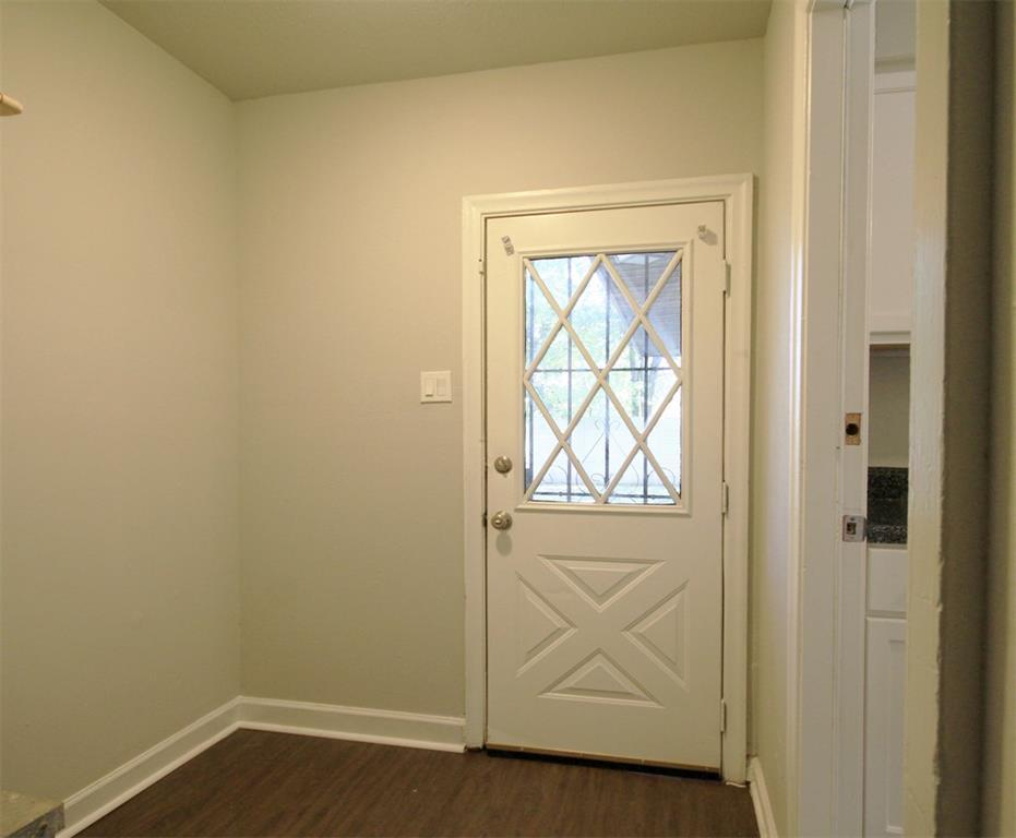 Rear entrance/mudroom off kitchen