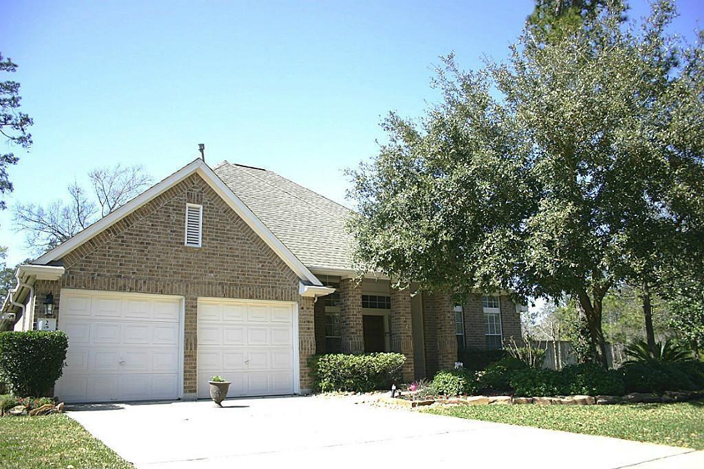 This 2 story home is in a wonderful location! Four bedrooms and 3 bathrooms on a large corner lot. Home overlooks the pond, backs up to a greenbelt and private reserve! This secluded neighborhood is within walking distance to the area pool, park and shopping center. The office/study has french doors and can double as a 5th bedroom. Island kitchen with master oasis downstairs. Hardwood floors throughout the main living areas. Fenced backyard,covered porch, and sprinkler system. Move-In Ready!