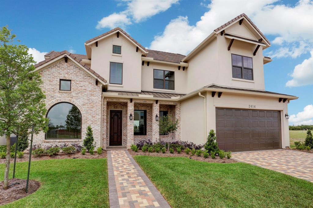 This highly customized Kickerillo home is found in the 24/7 gated community of The Parkway. Located off Eldridge, just south of Briar Forest, it provides ideal access to the Energy Corridor. 2414 Camden Creek offers a fresh floor plan with room for a pool and lake views. This Signature Custom Series home features a first floor master suite and study. On the second floor there is a game room, media room, three guest rooms, and a balcony . Exterior finishes are slurried brick and stucco. The roof is tile and standing seam metal. The Parkway neighborhood amenities include a tennis court, playground and state-of-the-art swimming pool. Stop by sales office/model home for viewing. Open daily 10 AM-5:30 PM.