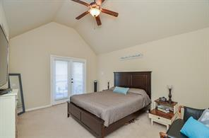 Your private master bedroom balcony. Lake Conroe Waterview to the Right
