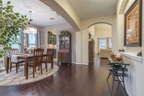 Formal dining room just through the entryway with easy access to the kitchen.