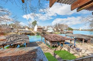 View of Paradise Cove and the open water from the balcony of your new lake house. Wake up evey morning to this view!