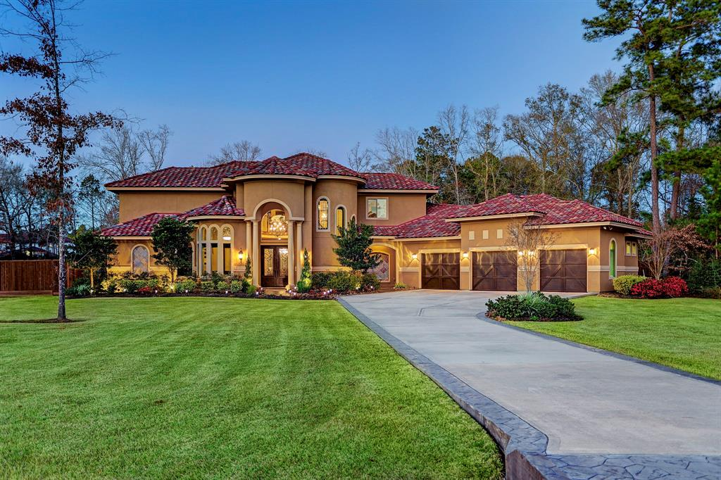 Welcome to beautiful 5307 Pine Wood Meadows Ln! This gorgeous, custom Mediterranean home, lovingly completed in 2015, sits on over an acre in Benders Landing Estates. Conveniently located to both the Woodlands and Downtown, this sprawling home is an oasis in the midst of city life. With 4/5 bedrooms, 4 bathrooms, a game room, home theater, HUGE open living spaces, and plenty of room for a pool, this is a perfect home for families and entertaining!