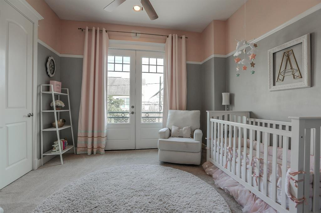 Secondary bedroom being used as a nursery. Lots of light. Make it what you need it to be.