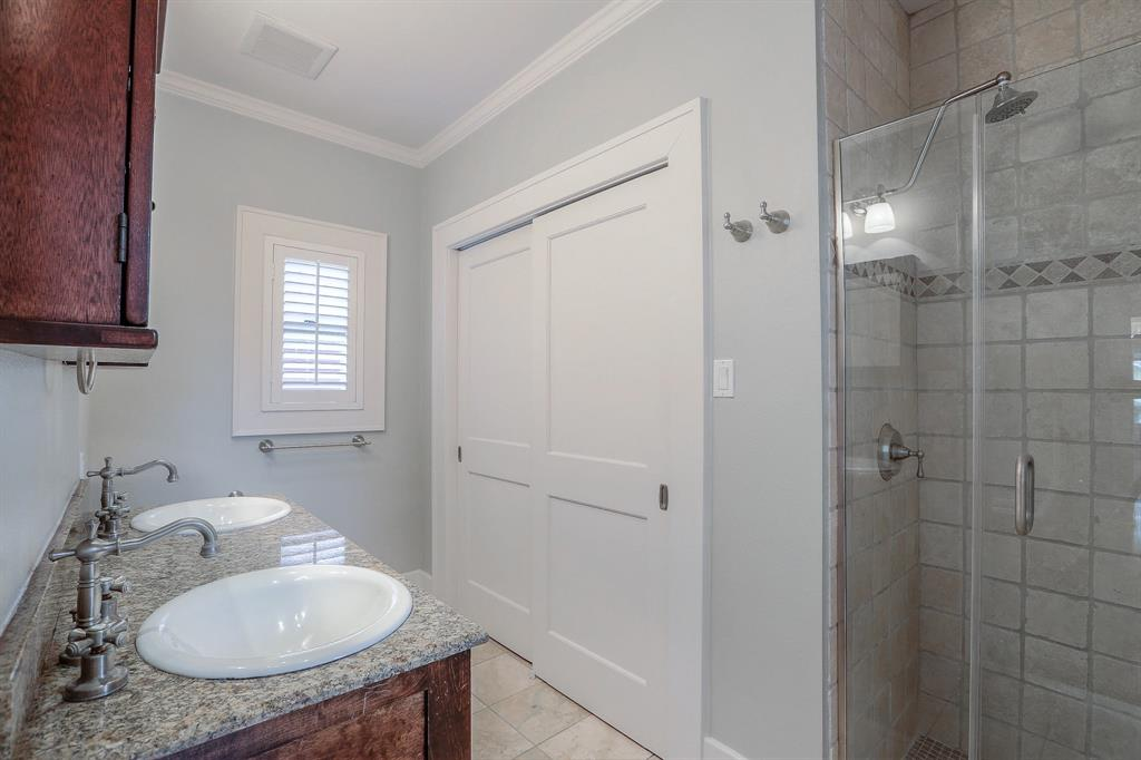 You'll also love the extra storage in the master bath and the Rainfall-style shower head.