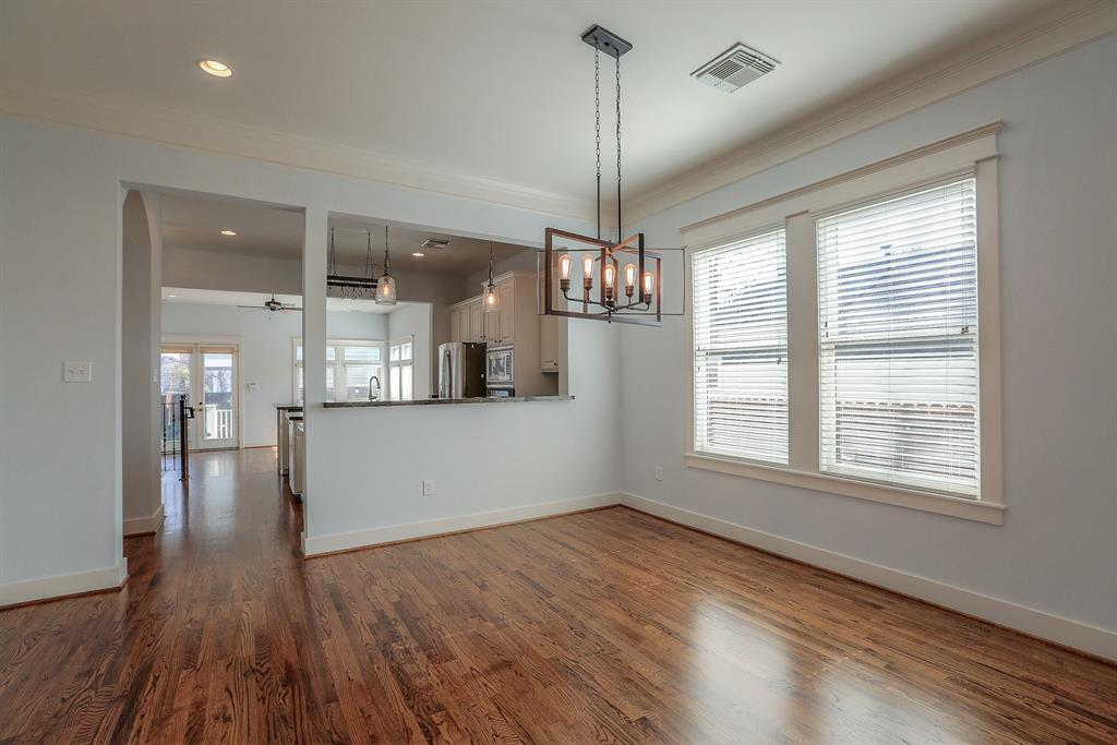 Large windows produce lots of natural light! Large Dining area.