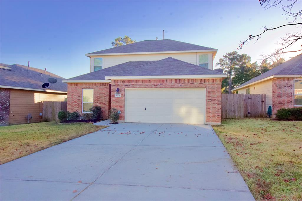 WOW! There are possibly FIVE bedrooms and 2017 sf, built in 2013, the school district is MISD, and you have NO NEIGHBORS behind you for under 205k! That's a rare combination in this area which gives you a great opportunity to own a newer, nice, modern, well cared for home at a very affordable price. Inside has been well cared for and has granite counters, stainless steel appliances, and a refrigerator that can stay. Lots of windows give good sunlight into the living area with master, utility, and half bath downstairs to go with living and kitchen. Upstairs are 4 more spaces to use how you please with a full bathroom. Nice and durable vinyl wood flooring throughout most of the home with carpet in bedrooms and upstairs. Out back you have a covered patio, and fenced backyard with beautiful woods and trees behind you! No neighbors to look at back there! All of this is in a great location right near HWY 105 for access to LAKE CONROE, Montgomery, Conroe, The Woodlands, Magnolia close by.