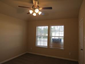 Master Bedroom upstairs with Ceiling Fan