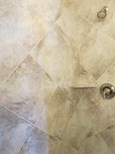 Neutral Ceramic Tile Surround in Master Shower