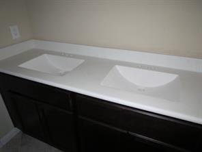 Marble Vanity with 2 Sinks in Master Bath