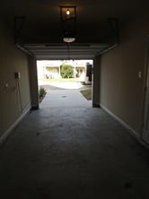 One Car Garage with Garage Door Opener