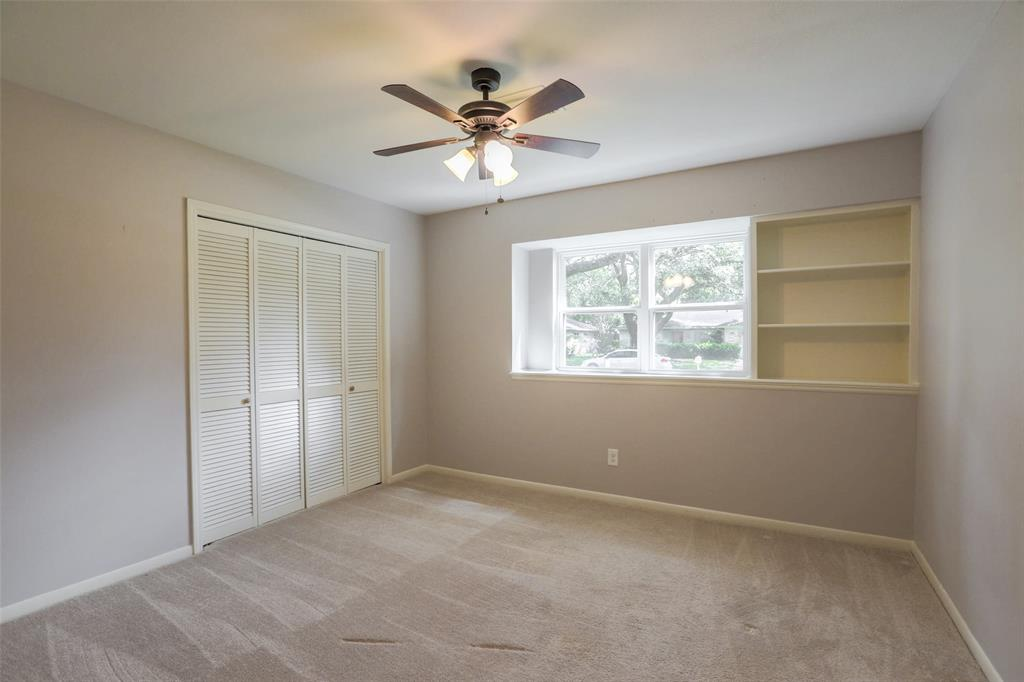 Bedroom # 2 with good closet space.