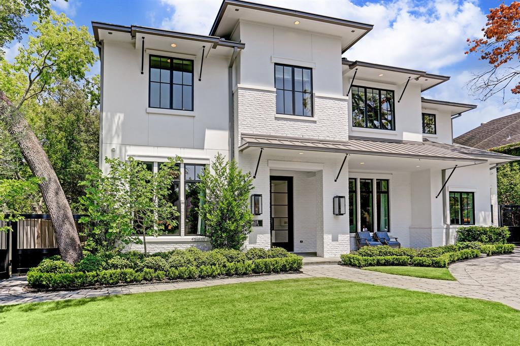 Opulent, modern, and meticulously detailed home in West University Place.  6,763 interior sq. ft. on a 15,000 sq. ft. lot.  Custom built by Classic American Homes.  Ideally located at the end of  a cul-de-sac and within walking distance to highly rated West University Elementary School, fine dining, and shopping.  Entire home from security, to lighting, drapes, and televisions operated by Crestron Smart Home System. Gourmet kitchen, butlers pantry, and soaring ceilings throughout.  Elevator capable.  Custom fabricated steel framed doors in kitchen lead to covered patio complete with summer kitchen, half bath, and fireplace.  Hydraulic air hangar style garage door added to accommodate existing lift and create possibility of a 4 car garage.   Each space was crafted by a refined and highly practical floor plan.
