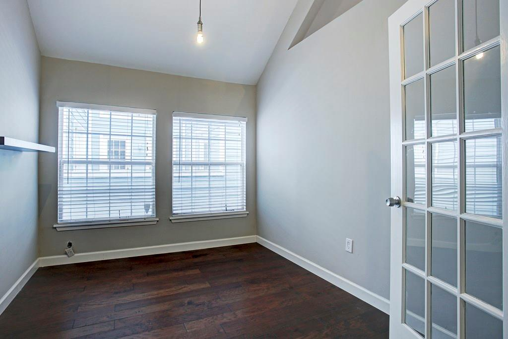 This light-filled and versatile third room could be used as a study or home office, playroom or guest bedroom.