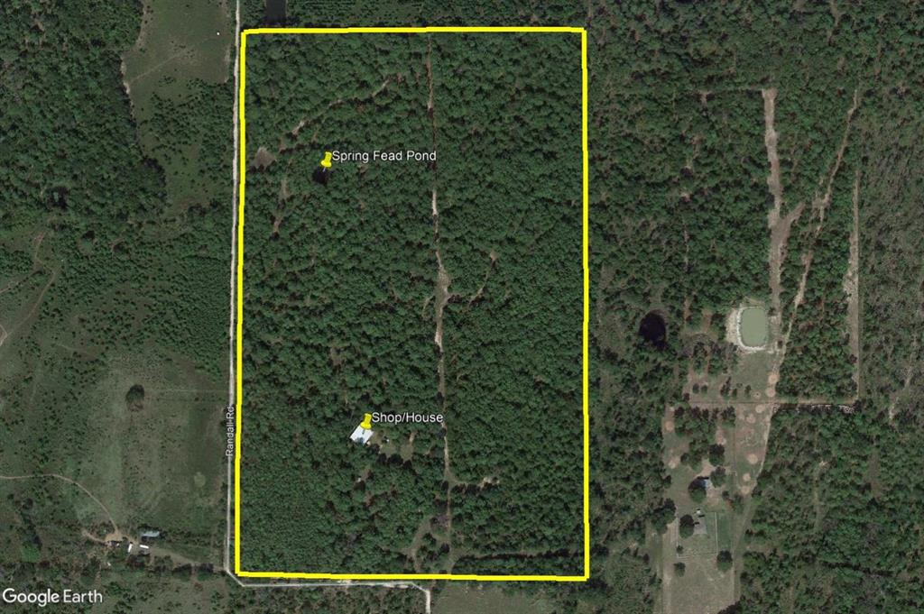 Wooded land is in as natural a state as is likely to be found. Entrance gate opens to land covered in mostly pine. Partial fencing. Large 50x60 metal building with approx. 1000 sf of living quarters on one side which has CH&A and