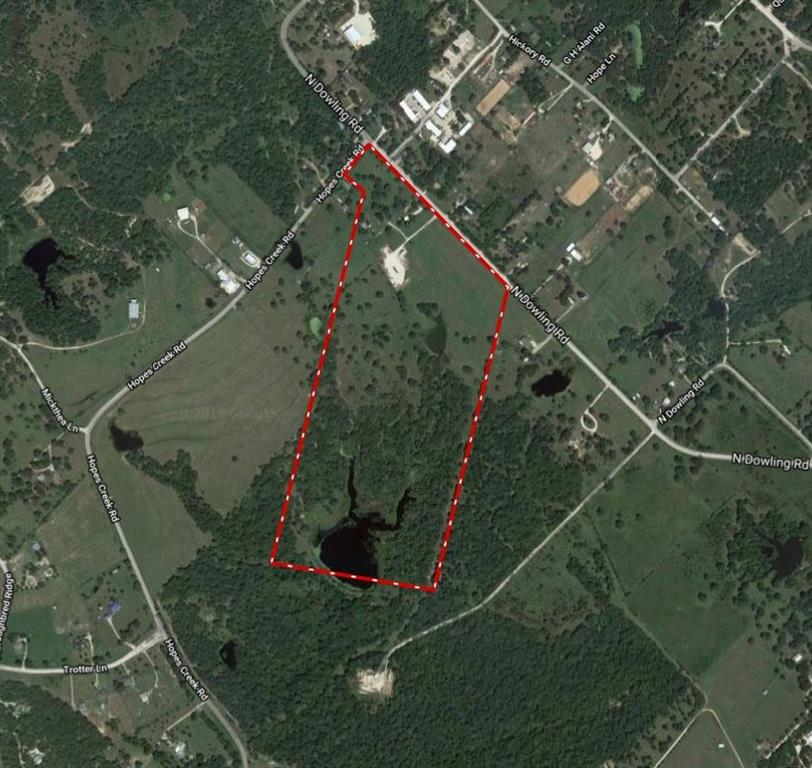 This is an excellent tract for sale with huge development upside. This property consists of 66 total acres. Prime tract for development College Station Independent School District Located at the corner of Hopes Creek Rd and N Dowling Rd Multiple residential communities around this property More residential developments are on there way as well 18in water line along N Dowling Rd - Also 8in water line along N Dowling Rd 10in water line along Hopes Creek Rd