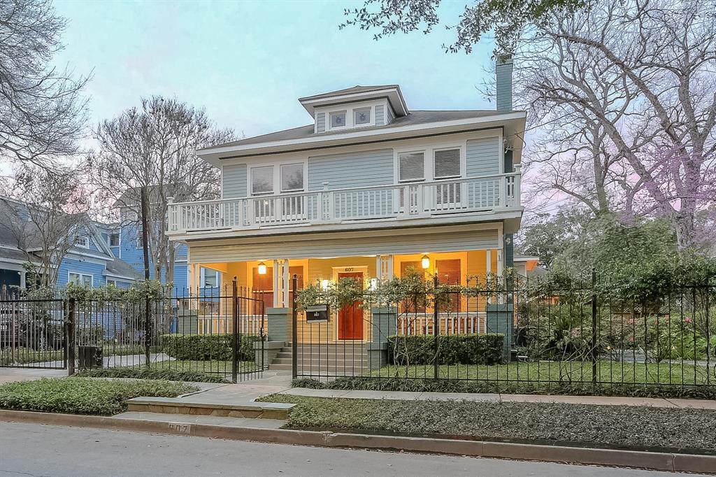 Beautifully updated and restored Woodland Heights home on a quiet, tree-lined street.