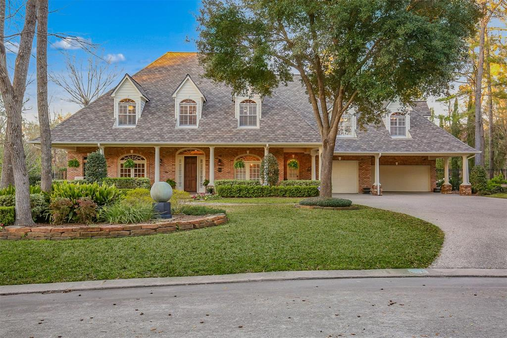 With loads of curb appeal, this gorgeous former showcase home is located in the heart of The Woodlands. Within walking distance of John Cooper, walk/ride to the Mitchell Preserve and minutes to shopping, dining, 45 and the new 99! An elegant foyer showcases stunning wood flooring and two-story ceilings. The formal living and dining rooms welcome, and the impressive family room is open to a fantastic high-end kitchen/breakfast. Recessed lighted ceilings, custom millwork, and charming paint finish compliment abundant window views of the serene landscape. Upstairs generous entertaining venues include game, media, and billiards. Large bedrooms with en-suite and/or holly-wood baths. The outdoor entertaining is nothing shy of spectacular with chlorine pool, spa, Old Chicago brick & Travertine decking, covered cabana, a gas fireplace, and multi-level entertaining spaces. The side yard hosts a comfortable sitting area and custom sauna!