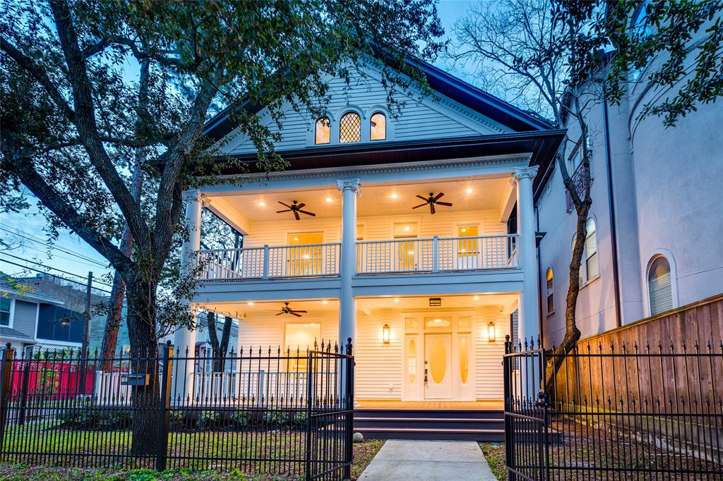 One of a kind opportunity to own a piece of history. The original home was built in 1904, then renovations completed in 2019. Soaring columns, 2 full master suites with freestanding tubs and bidets. Top of the line designer grade finishes chefs kitchen with Viking appliances, quartzite tops, real wood floors, period-specific tile selections, 5 skylights to bring in tons of natural light into the 3rd-floor master suite. Wrap around porch, the 3rd-floor master is large enough to house work out room, study, and master suite all in one space!