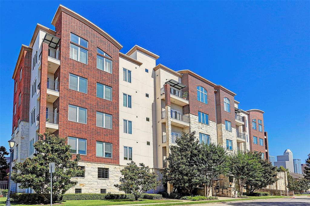Terrific condo in the heart of Houston's hottest Midtown/Montrose neighborhood! Light and bright, this corner unit is ready for move in! Granite counters, fresh paint, hardwoods. Large corner balcony is great for your morning coffee. Great storage and fantastic master suite with large bath and walk-in closet! Study nook in hallway heading to second bedroom. Nice pool area and low maintenance fees! Two assigned parking spaces and a storage room!