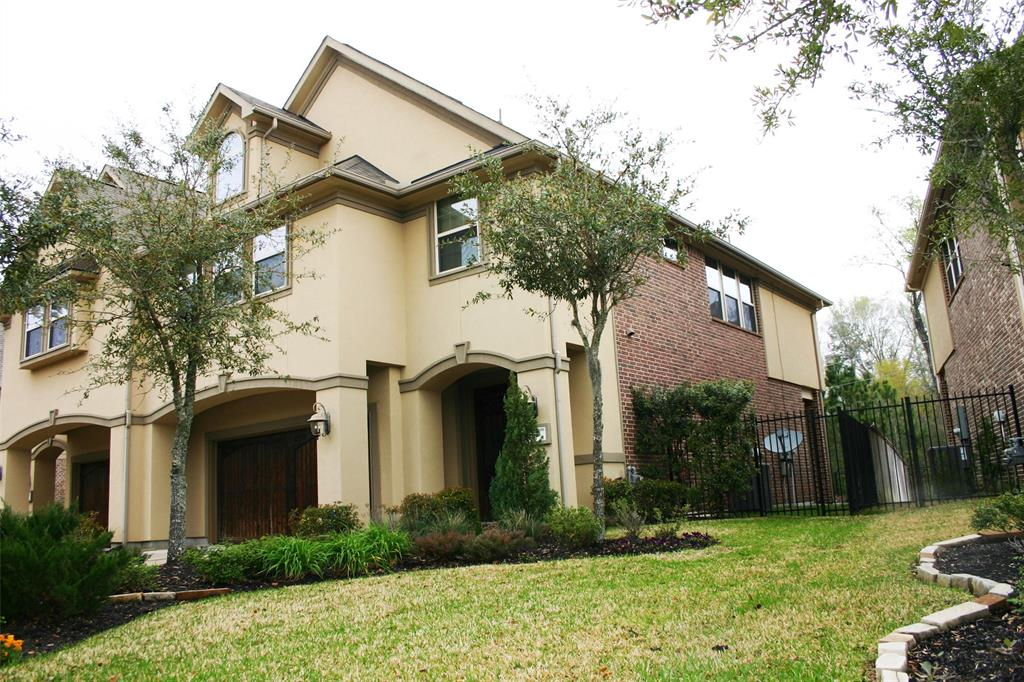 PROFESSIONAL PHOTOS COMING. This is a great rental for the price. House is loaded with upgrades, starting with the custom Ken Moore cabinets, GE Monogram SS appliances, engineered hardwood floors on first floor. Foyer has an elegant staircase with wrought iron rails, custom woodwork concealing under stair providing tons of storage space. on Second floor there is a custom desk nook with bookcases, file drawers and cabinets. Master suite is elegant with high ceiling, wall of windows. Master bathroom has upgrades bath, walk in shower, spa bath, his and her vanities. Master closet is huge. Expanded covered patio with professional landscaping, totally private on greenbelt.