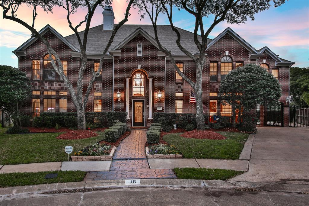 Palitial, one-of-a-kind custom designed home located in the highly-sought Fosters Green community of Sugar Land! Situated on a cozy cul-de-sac lot, this 5-bedroom, 3.5-bathroom property boasts high ceilings, custom plantation shutters, an intercom system, 2 fireplaces, a great room with floor to ceiling windows & wet bar, game room, & an extra room that could be used as an office space on the 2nd floor. Fall in love with the beautiful island kitchen, featuring a stainless steel gas range, tile backsplash, & breakfast bar. Unwind in the spa-like master bathroom, complete with dual vanities, a whirlpool tub, & separate shower. The oversized backyard includes plenty of room for your dream swimming pool or other outdoor recreation. NEVER FLOODED! Nestled between Highway 90, I-69, & the Grand Parkway, residents are less than 2 miles from premier shopping, dining, & entertainment at First Colony Mall & Sugar Land Town Square. Deemed 3rd best place to live by Niche. Fort Bend ISD.