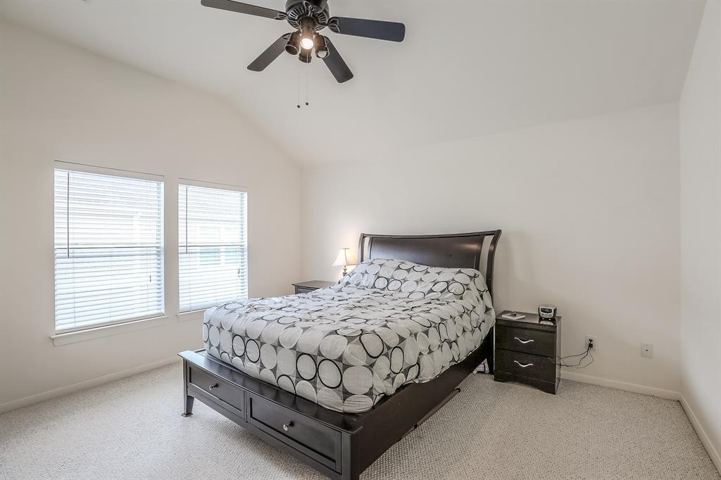 Spacious master bedroom with great closet space.