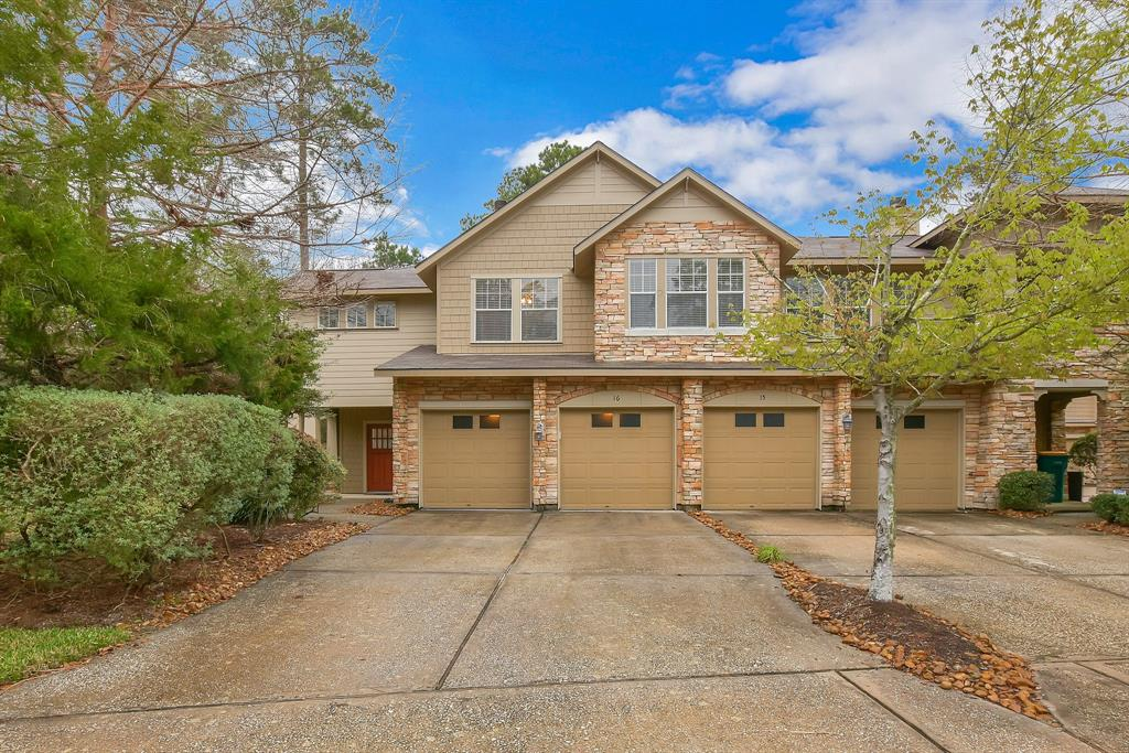Executive Townhome fully furnished for lease! All bills included!  move-in ready, low maintenance condo located at the front of The Woodlands near restaurants, shopping and entertainment! 2-story condo features living room w/2-story ceilings & gas-log fireplace, dining room new wood floor in living area, and spacious kitchen. All bedrooms located on 2nd floor. Master suite w/high ceilings and en-suite bath. Covered patio on 1st floor is fenced in for privacy & includes a gate leading to greenbelt. Easy commute, close to I-45! Includes Furniture, utility bills, 2 TV's, easy living! Landlord may consider unfurnished lease option.