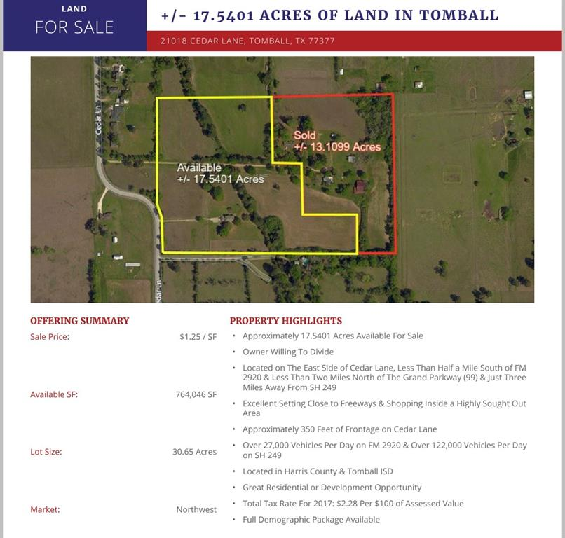 21010 Cedar Lane, Tomball, TX 77377