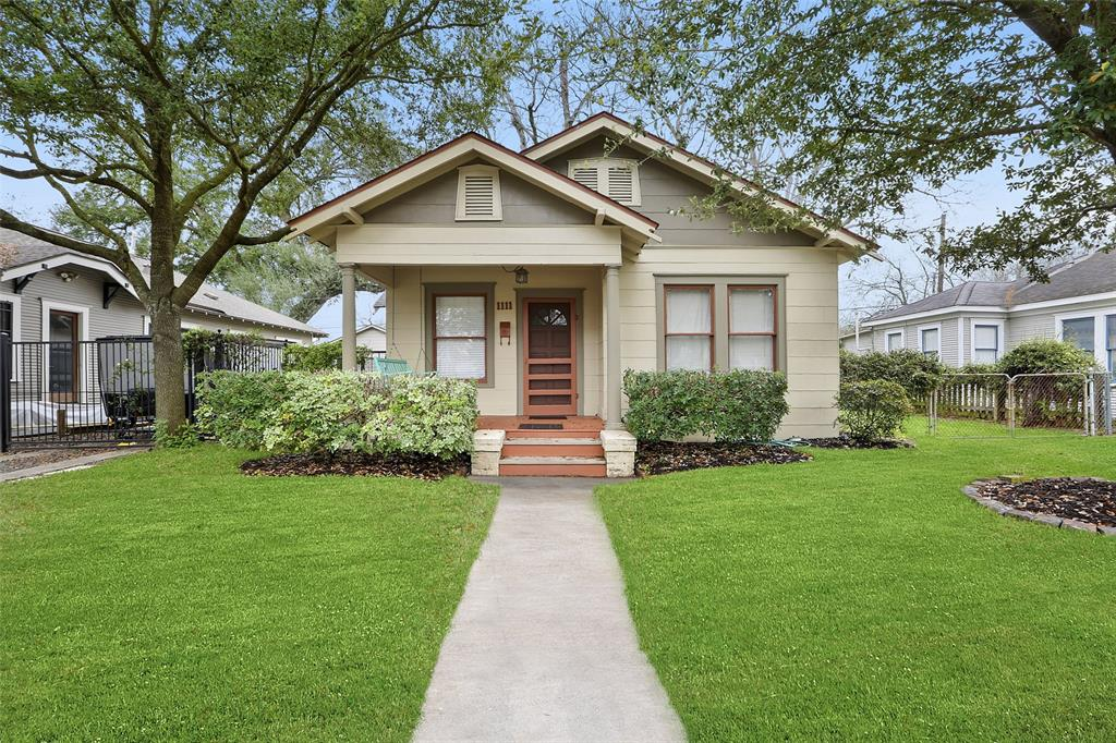 Historic Norhill Heights Bungalow.  3 Bedroom, 1 bath home with a 1 car detached garage. Per seller, some updated plumbing and electrical has been updated. Including House to City line (2017). New paint throughout interior (2019). Installed Water Heater (2018).