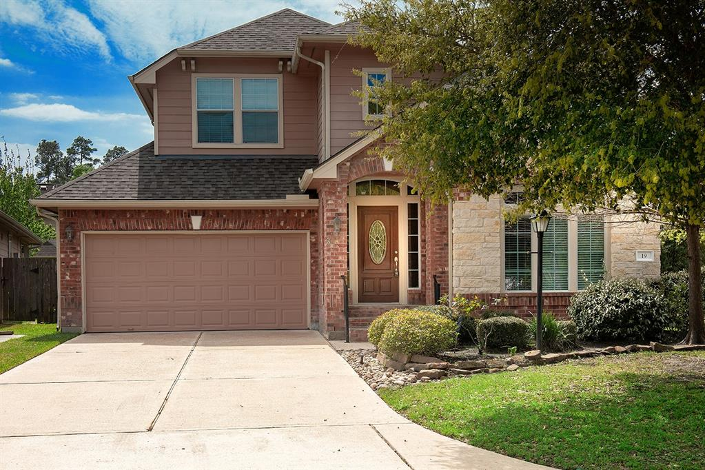 Beautifully updated home on a corner lot for lease in Grogan's Forest! Great location - close to Market Street, Hughes Landing, I-45 and Grand Pkwy! New carpet and wood-look tile floors, neutral paint palette makes for an easy transition, and abundant windows provide natural light throughout the home. Open concept island kitchen with stainless steel appliances, breakfast bar and granite counters overlooks breakfast room and den with gas log fireplace; washer/dryer/fridge included; formal dining and study; master retreat down; two bedrooms and game room up; two car attached garage; fenced yard with covered patio has room to entertain! Area pool too! Equal deposit; current credit report with scores required; pets on case-by-case basis.