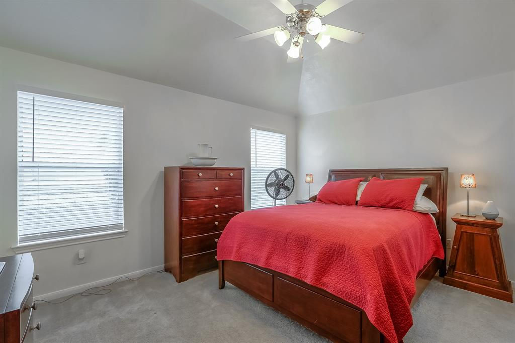 Generous master bedroom space...vaulted ceiling and loads of natural light to create your own perfect refuge.