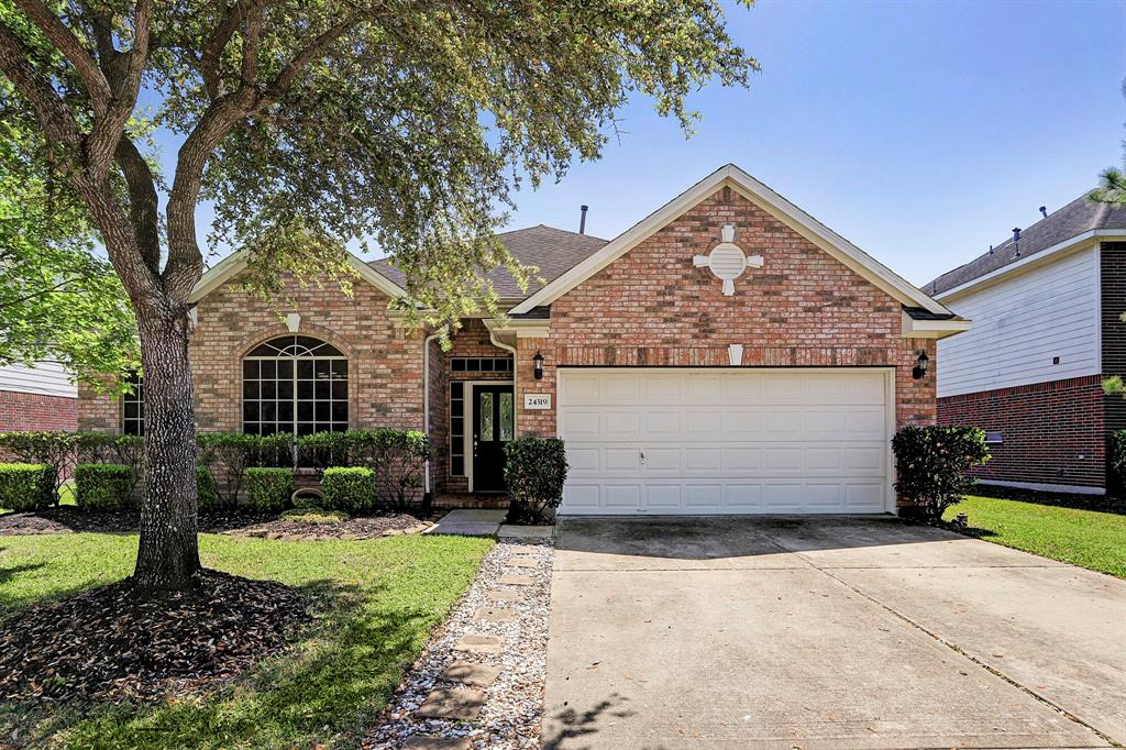 Beautiful one-story, open-concept home in pristine condition features high ceilings, dine-in kitchen with ample cabinetry, expansive granite countertops, SS appliances, island, and breakfast bar. The kitchen opens to a sizable living area with cozy fireplace. Highly functional living spaces w-hard flooring throughout include handsome study (currently playroom) w-French doors & formal dining. A spacious owner's retreat with spa-like bath is complete w-jetted tub, separate shower, dual vanities, seated vanity & his/her closets. Recently replaced carpet in all bedrooms (2018). The north-south facing home features a fabulous, extended patio (2017) & large, fenced backyard. Situated in highly sought-after Lakecrest Communities, the neighborhood offers lakes, trails, pool, playground & so much more! Zoned to exemplary Katy ISD & located w-easy access to Grand Parkway, I-10 & Energy Corridor. Minutes from popular Mary Jo Peckham Park, the fine home has many updates and amazing curb appeal!
