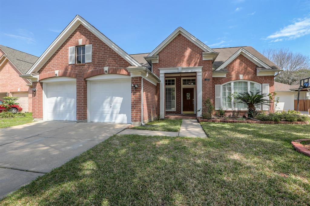 Front of home has great curb appeal.